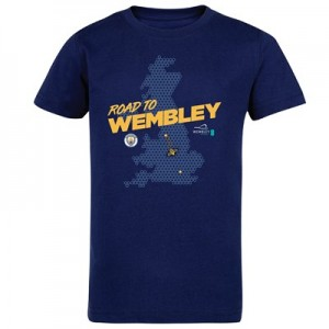 Manchester City Road To Wembley BeeT Shirt - Navy - Kids