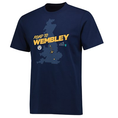 Manchester City Road To Wembley Bee T Shirt - Navy - Unisex