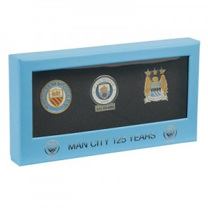 Manchester City 125 Years 3 Piece Badge Set