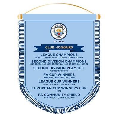 Manchester City 125 Years Honours Pennant