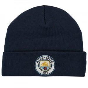 Manchester City Core Cuffed Knit - Navy - Adult