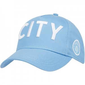 Manchester City Wordmark Core Cap - Sky - Junior