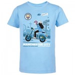 Manchester City Back 2 Back Champions On Tour T Shirt - Sky - Kids
