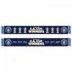 Manchester City FA Cup Winners X6 Scarf - Navy - Adults