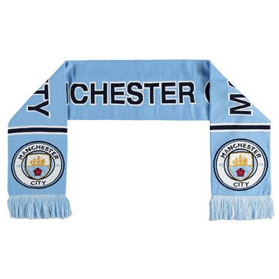 Manchester City Text Scarf - Sky - Adult