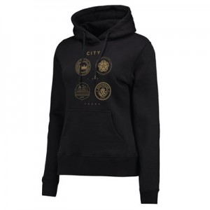 Manchester City 125 Years Quad Hoodie - Black - Womens