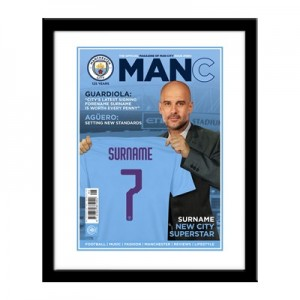 Manchester City Magazine Front Cover Framed Print