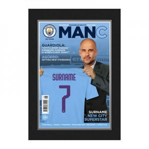 Manchester City Magazine Front Cover Photo Folder