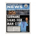 Manchester City News Single Page Print