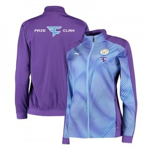 Manchester City Stadium Jacket - Purple - Womens with FaZe Clan Sponsors