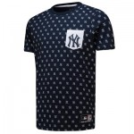 New York Yankees All Over Print T-Shirt - Navy - Mens