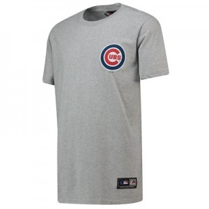 Chicago Cubs Rishop Longline T-Shirt - Grey - Mens
