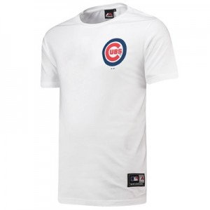 Chicago Cubs Rishop Longline T-Shirt - White - Mens