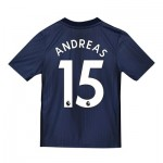 Manchester United Third Shirt 2018-19 - Kids with Andreas 15 printing