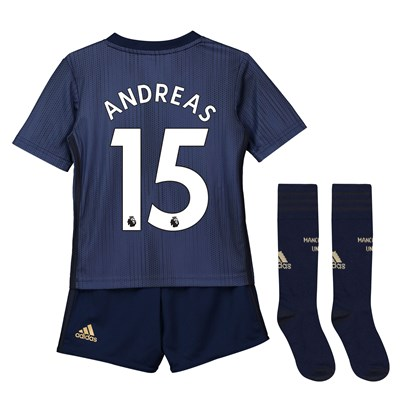 Manchester United Third Mini Kit 2018-19 with Andreas 15 printing