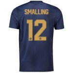Manchester United Third Cup Shirt 2018-19 with Smalling 12 printing