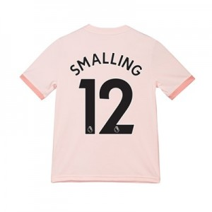 Manchester United Away Shirt 2018-19 - Kids with Smalling 12 printing