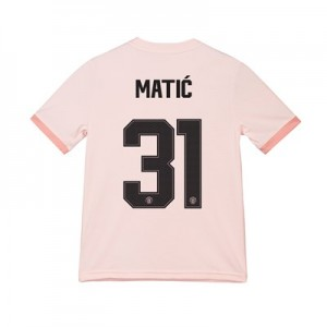 Manchester United Away Cup Shirt 2018-19 - Kids with Matic 31 printing