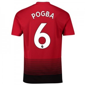 Manchester United Home Shirt 2018-19 with Pogba 6 printing
