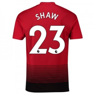 Manchester United Home Shirt 2018-19 with Shaw 23 printing