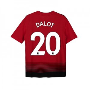 Manchester United Home Shirt 2018-19 - Kids with Dalot 20 printing