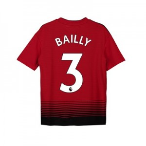Manchester United Home Shirt 2018-19 - Kids with Bailly 3 printing