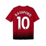 Manchester United Home Shirt 2018-19 - Kids with Rashford 10 printing