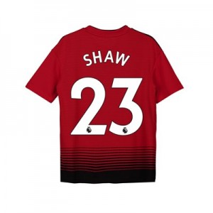 Manchester United Home Shirt 2018-19 - Kids with Shaw 23 printing