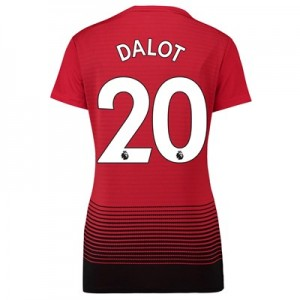 Manchester United Home Shirt 2018-19 - Womens with Dalot 20 printing