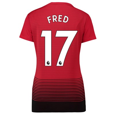 Manchester United Home Shirt 2018-19 - Womens with Fred 17 printing