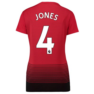 Manchester United Home Shirt 2018-19 - Womens with Jones 4 printing