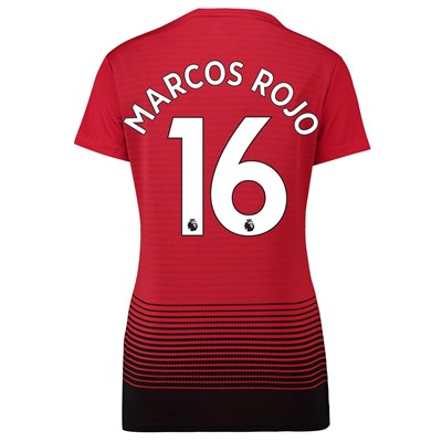 Manchester United Home Shirt 2018-19 - Womens with Marcos Rojo 16 printing