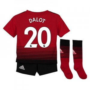 Manchester United Home Mini Kit 2018-19 with Dalot 20 printing