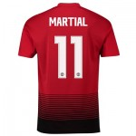 Manchester United Home Cup Shirt 2018-19 with Martial 11 printing