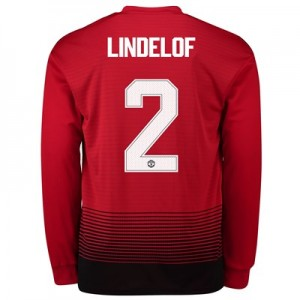 Manchester United Home Cup Shirt 2018-19 - Long Sleeve with Lindelof 2 printing