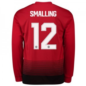 Manchester United Home Cup Shirt 2018-19 - Long Sleeve with Smalling 12 printing