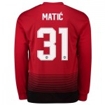 Manchester United Home Cup Shirt 2018-19 - Long Sleeve with Matic 31 printing