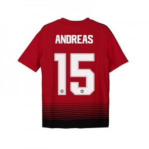 Manchester United Home Cup Shirt 2018-19 - Kids with Andreas 15 printing