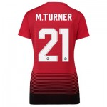 Manchester United Home Cup Shirt 2018-19 - Womens with M.Turner 21 printing