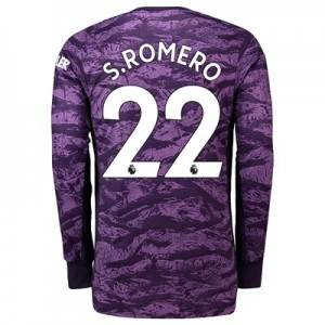 Manchester United Home Goalkeeper Shirt 2019 - 20 with S.Romero 22 printing