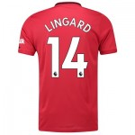 Manchester United Home Shirt 2019 - 20 with Lingard 14 printing