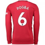 Manchester United Home Shirt 2019 - 20 - Long Sleeve with Pogba 6 printing