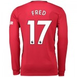 Manchester United Home Shirt 2019 - 20 - Long Sleeve with Fred 17 printing
