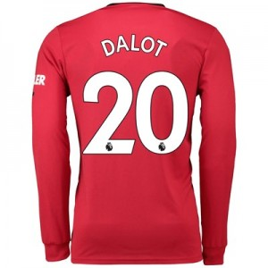 Manchester United Home Shirt 2019 - 20 - Long Sleeve with Dalot 20 printing