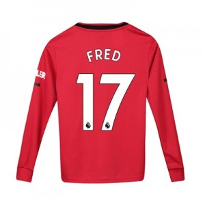 Manchester United Home Shirt 2019 - 20 - Kids - Long Sleeve with Fred 17 printing