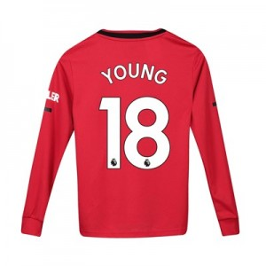 Manchester United Home Shirt 2019 - 20 - Kids - Long Sleeve with Young 18 printing