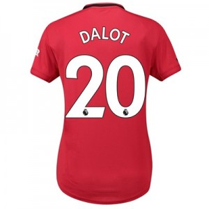 Manchester United Home Shirt 2019 - 20 - Womens with Dalot 20 printing