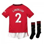 Manchester United Home Mini Kit 2019 - 20 with Lindelof 2 printing