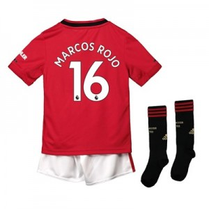 Manchester United Home Mini Kit 2019 - 20 with Marcos Rojo 16 printing