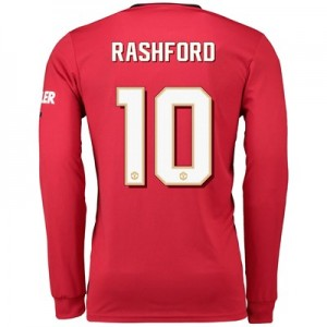Manchester United Cup Home Shirt 2019 - 20 - Long Sleeve with Rashford 10 printing